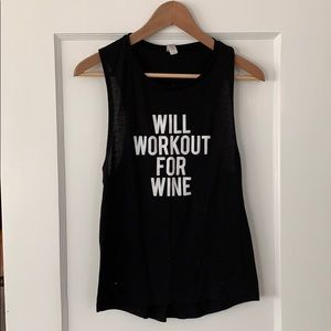 """Tops - """"Will WorkOut For Wine"""" Tank"""